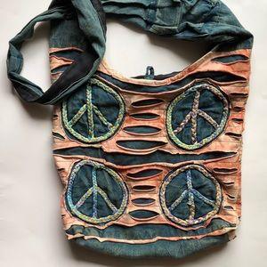Handmade Boho Hippie Crossbody Bag